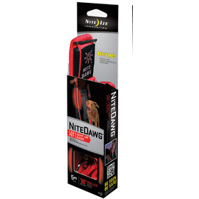 Nite Ize LED Dog Leash, red
